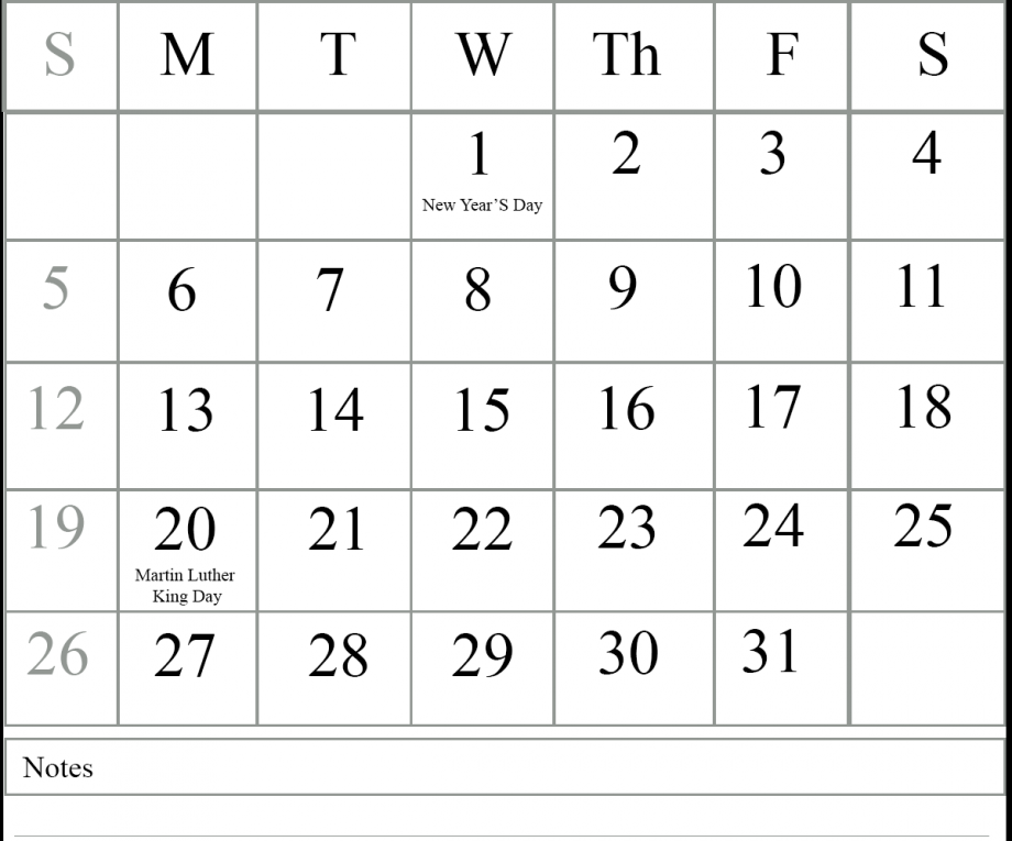 List Of Holidays 2020.Full List Of January Holidays 2020 January 2020 Calendar