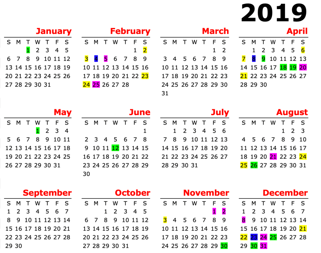 december 2019 calendar with holidays philippines