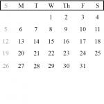 Portrait Calendar January 2020