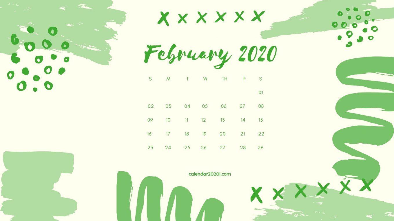 February 2020 Calendar Desktop Wallpaper