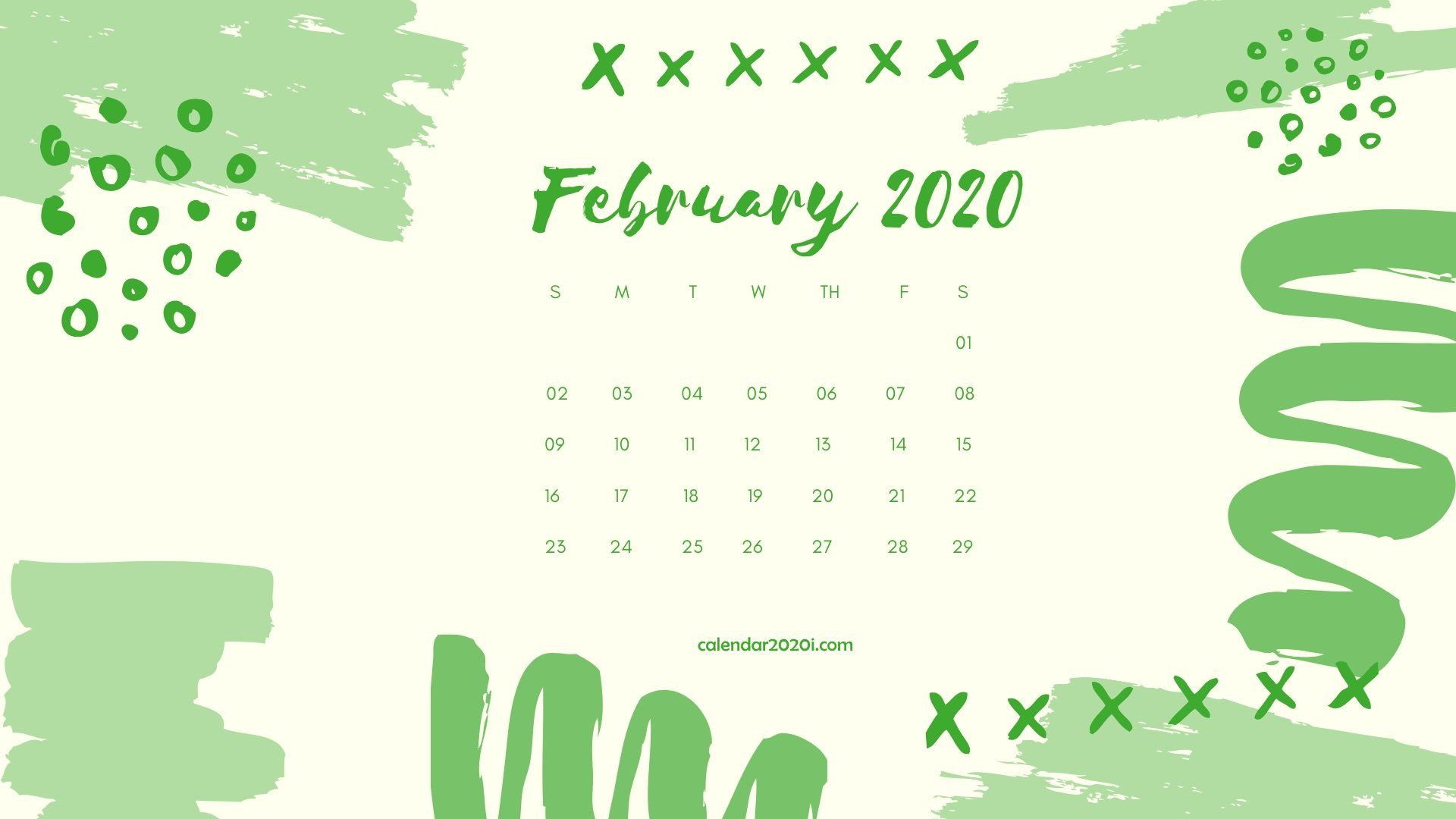 Free 15 Cute February 2020 Calendar Desk Template Floral Wallpaper