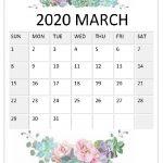 March 2020 Floral Calendar