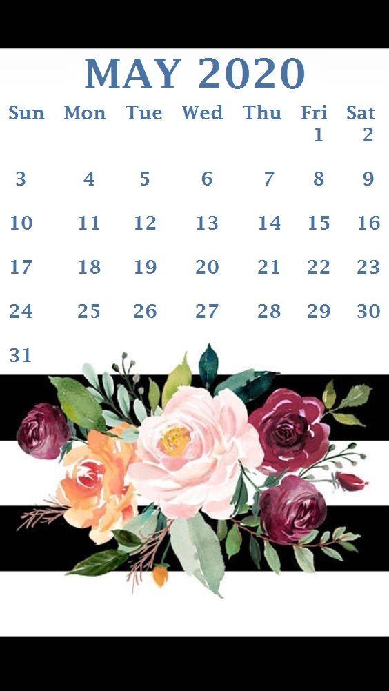 May 2020 Cute Calendar Printable