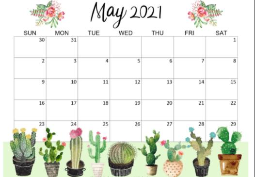 May 2021 Calendar Wallpaper