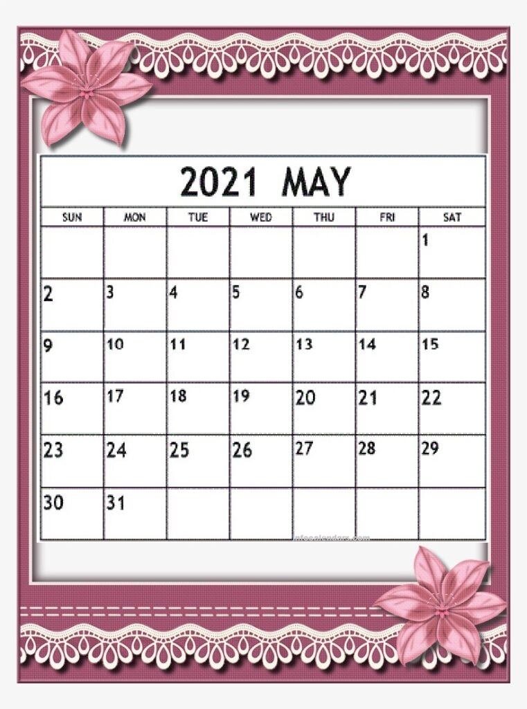 May 2021 calendar for offices