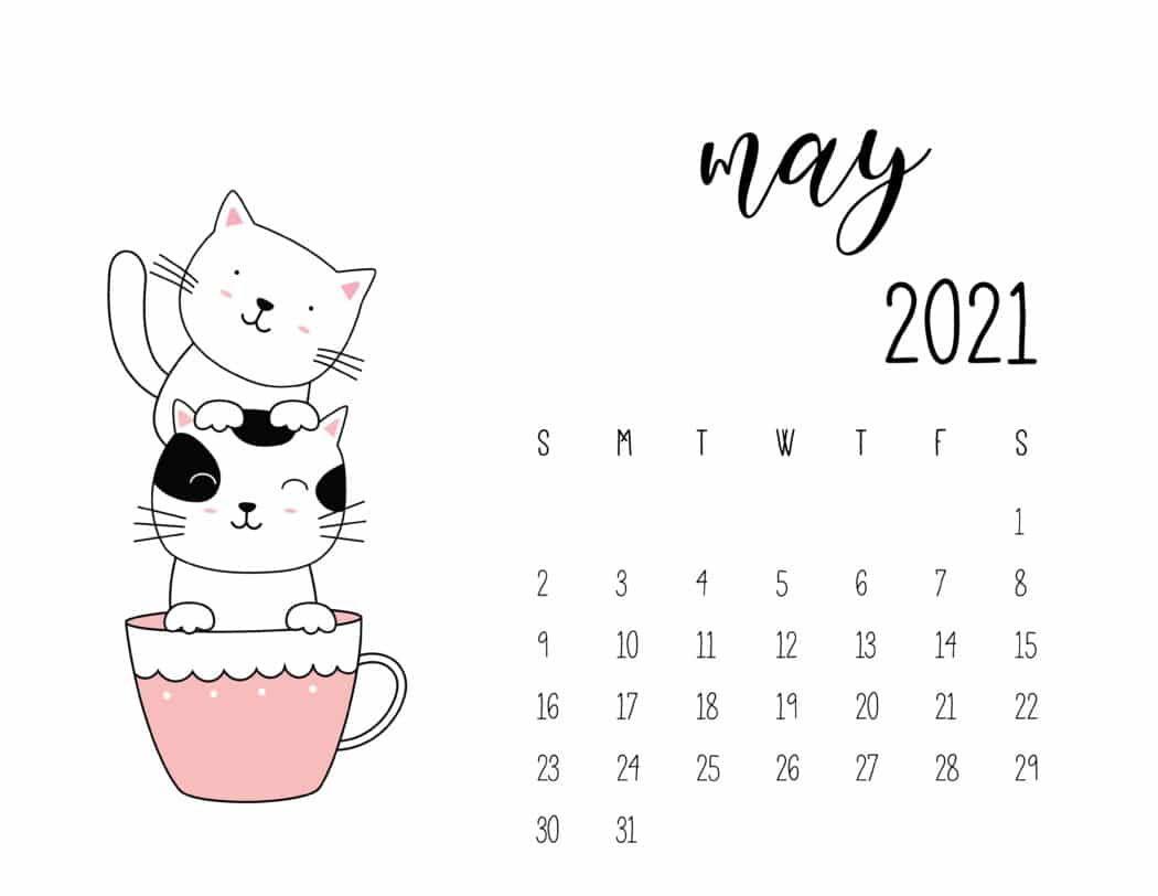 cute may 2021 calendar for kids