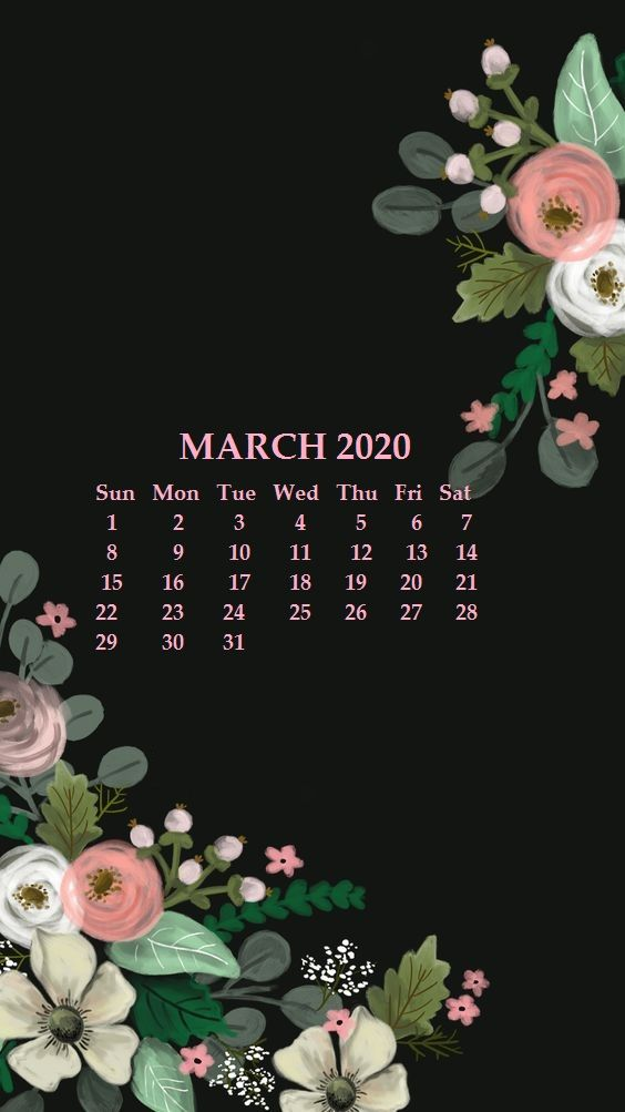 march 2020 wallpaper for iPhone