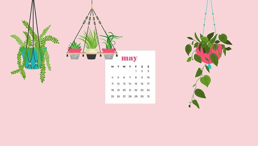 Free May 2021 calendar desktop wallpapers
