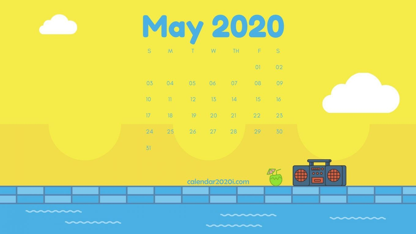 May 2020 Calendar Wallpapers