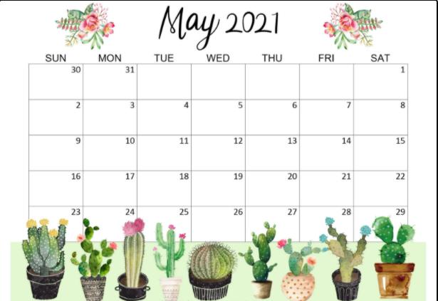 May 2021 Desk Wallpaper Calendar