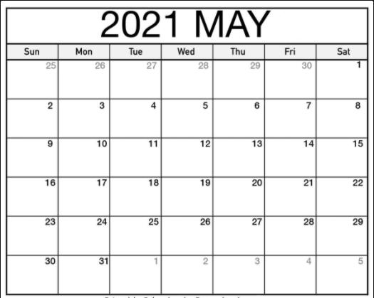 May 2021 US Calendar