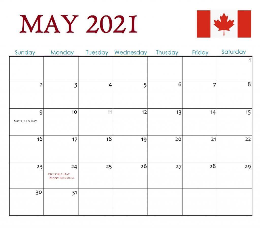 may 2021 calendar with holidays canada