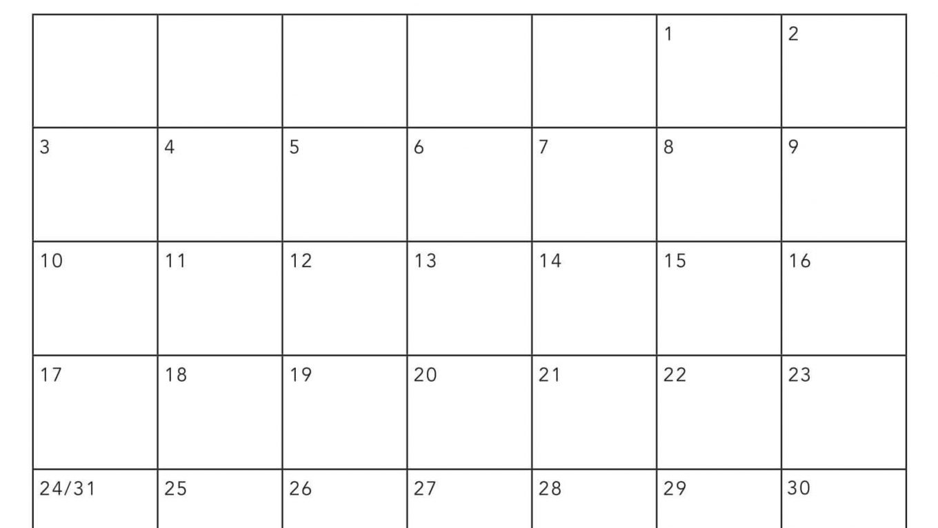 Online Blank May 2020 Calendar Template To Print 2