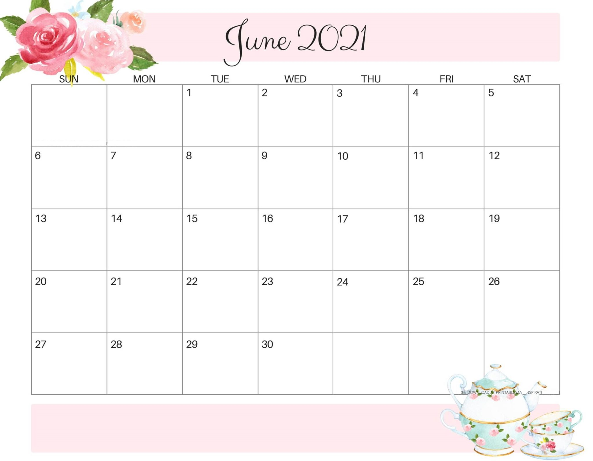 Cute June 2021 Calendar Colorful Design Images for iphone