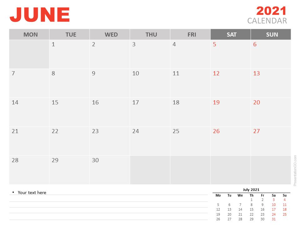 June 2021 Calendar Design To Print & Download