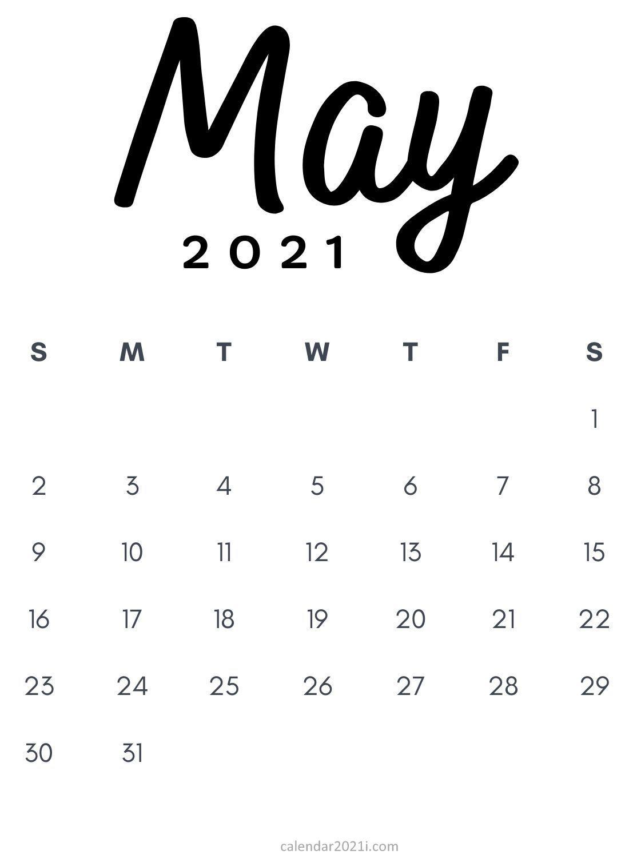 May 2021 Printable Calendar template