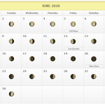 New Full Moon Lunar Phases June 2020 Calendar