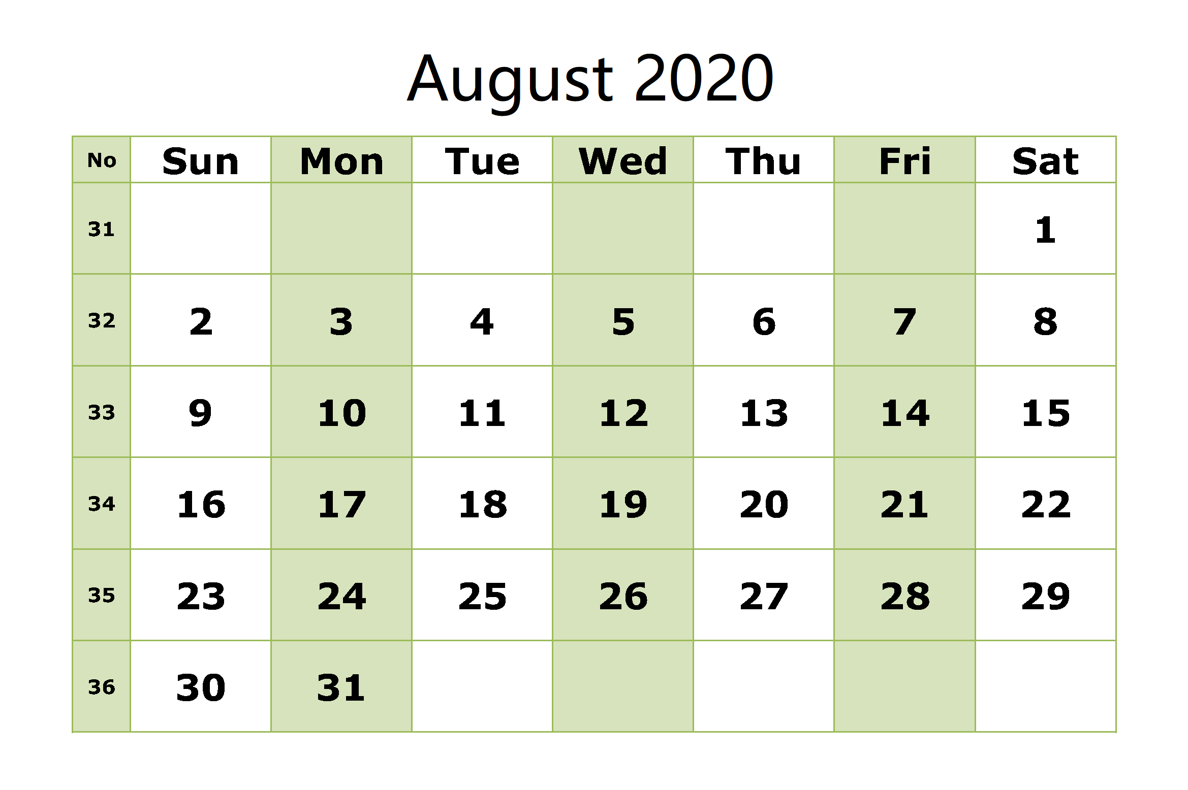 Blank-August-2020-Calendar-Printable-With-Notes 3