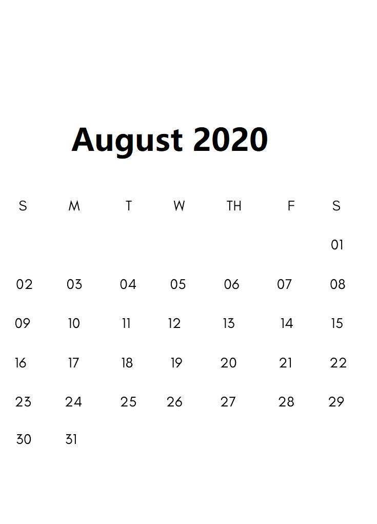 Free-August-2020Calendar 3