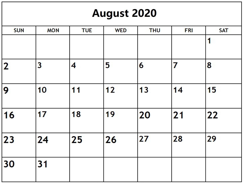 Free-Printable-August-2020-Calendar-Template 3